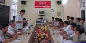 Lãnh đạo Công ty Hoàng Sơn triển khai kế hoạch sản xuất kinh doanh nhà máy thủy điện Suối Nhạp A - Đồng Chum (Đà Bắc).