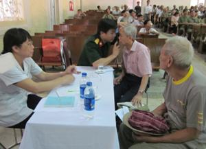 300 đối tượng người có công trên địa bàn thành phố Hòa Bình sẽ được khám bệnh, điện tim và siêu âm miễn phí.
