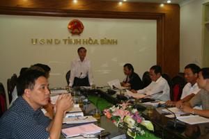 Lãnh đạo các sở, ngành của tỉnh làm việc trực truyến với Bộ NN&PTNT về triển khai chương trình mục tiêu quốc gia nước sạch và VSMTNT.