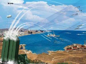 Mô phỏng hoạt động của hệ thống phòng thủ tên lửa quốc gia (NMD) của Mỹ tại Châu Âu.