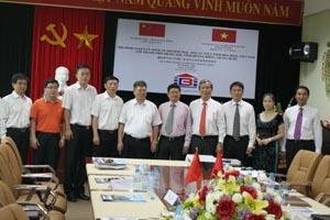 Lãnh đạo Công ty An Thịnh và các doanh nghiệp TP Trung Sơn tại buổi giao lưu hợp tác kinh tế thương mại và đầu tư tại KCN Lương Sơn.