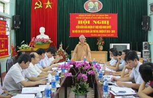 Toàn cảnh hội nghị kiểm điểm giữa nhiệm kỳ thực hiện Nghị quyết Đại hội chi bộ lần thứ VIII của Chi bộ cơ quan Ủy ban Kiểm tra Tỉnh ủy.