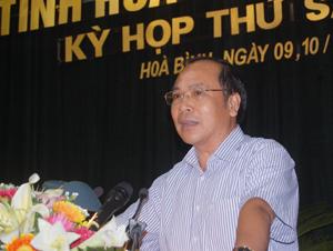 Trần Quang Khánh, Giám đốc Sở Y tế trả lời chất vấn.