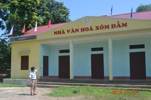 Nhà văn hóa xóm Đằm, xã Dân Chủ (TPHB) vừa khánh thành đầu năm 2013, trị giá 350 triệu đồng, trong đó TPHB hỗ trợ 50 triệu đồng.