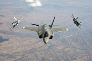 Các máy bay chiến đấu của Mỹ.