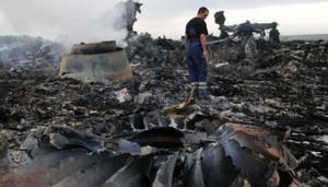 Hiện trường vụ rơi máy bay MH17 của hãng hàng không Malaysia Airlines. (Ảnh: Reuters).
