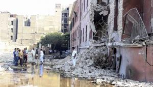 Các quan chức Italy cho biết, lãnh sự quán Italy đóng cửa tại thời điểm xảy ra vụ nổ. (Ảnh: AP)