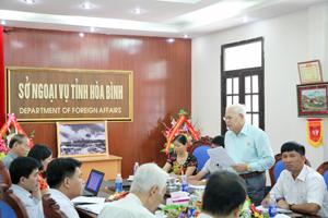 Đại biểu các sở, ngành đối tác tham gia đóng góp ý kiến cho việc triển khai Dự án tại tỉnh.