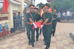 Hài cốt liệt sỹ Bùi Quang Trung được an táng tại Nghĩa trang liệt sỹ huyện Kim Bôi.