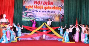 Tiết mục tham gia hội diễn của đơn vị thị trấn Kỳ Sơn.