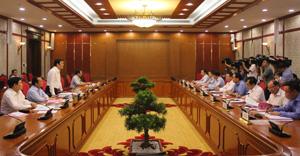 Đồng chí Trương Tấn Sang, Uỷ viên Bộ Chính trị, Chủ tịch nước kết luận buổi làm việc.
