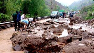 Dự báo ngày hôm nay, lũ quét và sạt lở đất có khả năng xảy ra ở tỉnh Quảng Ninh.