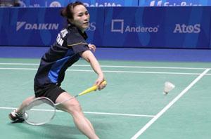 Vũ Thị Trang có hai chiến thắng trong ngày ra quân ở Giải Mỹ mở rộng