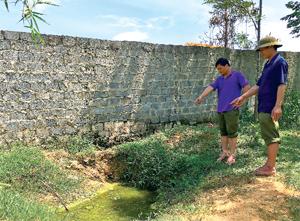 Với hệ thống xử lý chất thải vượt công suất, nước thải chăn nuôi từ trại chăn nuôi lợn nái hậu bị xóm Bãi, xã Kim Bình (Kim Bôi) ngấm đọng thành vũng gây nguy cơ ô nhiễm môi trường đất, nước, không khí đối với cộng đồng dân cư.