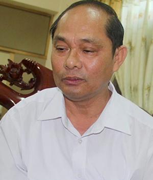 Ông Võ Tá Đinh, Giám đốc Sở Tài nguyên và Môi trường Hà Tĩnh