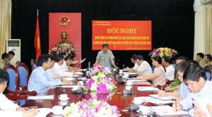 Đồng chí Bùi Văn Khánh, Phó Chủ tịch UBND tỉnh phát biểu kết luận hội nghị.