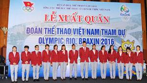 Đoàn TTVN sẵn sàng lên đường dự Olympic Rio 2016
