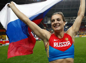 Isinbayeva (Nga) - kỷ lục gia 3 lần vô địch thế giới, 2 lần vô địch Olympic môn nhảy sào tuyên bố từ giã thi đấu nếu không được dự Olympic 2016
