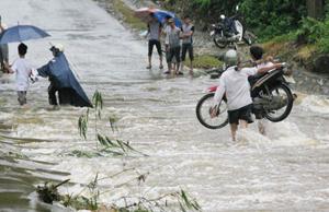 Mưa lũ gây nhiều thiệt hại ở Lào Cai.