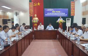 Hội nghị đã chỉ ra những tồn tại, hạn chế trong thực hiện chính sách về DVMTR trên địa bàn tỉnh.