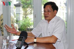 Nguyên Bí thư Tỉnh ủy Hậu Giang Huỳnh Minh Chắc trả lời phỏng vấn của VOV