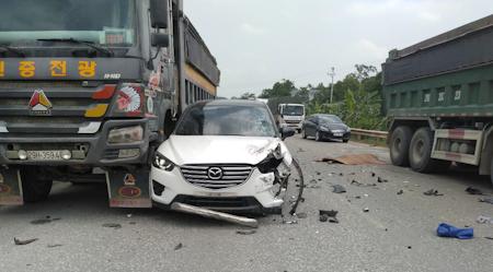 Hiện trường vụ việc tai nạn làm 1 người tử vong