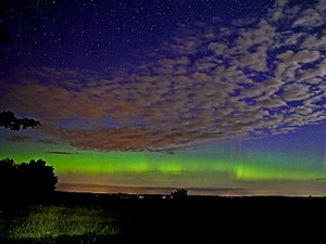 Cực quang ngoạn mục trên bầu trời Đan Mạch