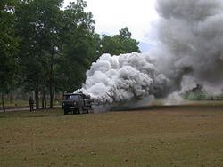 KH-1 thao tác phun khói