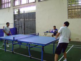 Một trận thi đấu tại giải.