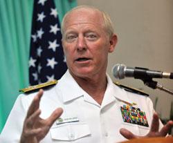 Đô đốc Willard tại cuộc hội đàm ở Philippines