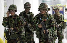Binh sĩ Hàn Quốc tham gia cuộc tập trận