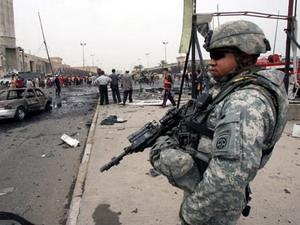 Một người lính Mỹ tại Iraq.