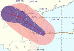 Chiều nay, bão số 3 ảnh hưởng trực tiếp vùng biển các tỉnh từ Đà Nẵng đến Thanh Hóa