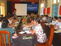 Lãnh đạo Sở Y tế khai mạc lớp tập huấn