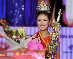 Tân Hoa hậu Việt Nam 2010 Đặng Thị Ngọc Hân phút đăng quang