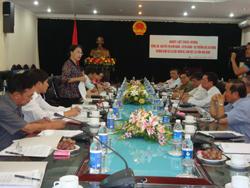 Bộ trưởng Bộ LĐ-TB&XH Nguyễn Thị Kim Ngân phát biểu tại buổi làm việc
