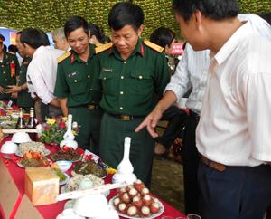 Các món ăn tham dự Hội thi của LLVT xã Hương Nhượng đạt giải đặc biệt