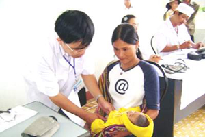 Cần nhận biết sớm dấu hiệu viêm phổi ở trẻ sơ sinh để tránh biến chứng.Ảnh: PV