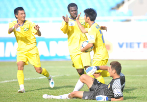 SL Nghệ An có nhiều ưu thế trong cuộc đua vô địch - Ảnh: Thục Linh