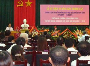 Các đại biểu tham dự lễ kỷ niệm 10 năm ngày thành lập Trung tâm TTGDSK.