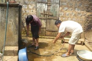 Trạm nước tự tạo của xóm Bái Trang 1, xã Đông Lai.