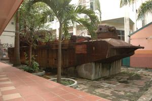 Xác tàu chiến Pháp hiện đang đặt ở Trung tâm giải trí Sao Mai, được đề nghị đưa vào hiện vật di tích lịch sử cách mạng.