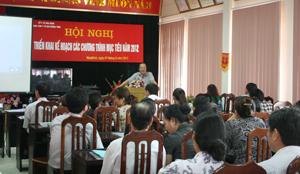 Lãnh đạo Sở Y tế phát biểu chỉ đạo tại hội nghị.