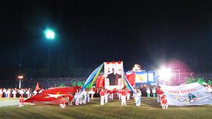 Lễ khai mạc có 6.500 lượt vận động viên và hơn 40.000 lượt người dân trong cả nước đến tham dự.
