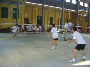 Các VĐV thi đấu ở nội dung cầu lông đôi nam 31 – 40 tuổi.