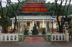 Công viên quân nhân có diện tích 300 m2 của Trung đoàn