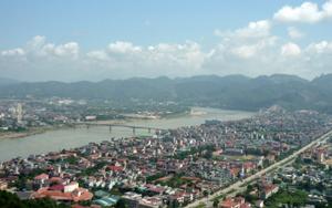 Một góc thành phố Hòa Bình.