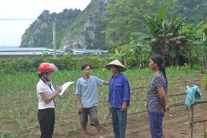 Người dân xóm Trại Ổi, xã Kim Truy bức xúc trao đổi với phóng viên về trại lợn gây ô nhiễm môi trường.