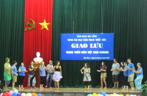 Tiết mục Nhảy dân vũ của các bạn tình nguyện viên Việt Nam -Canada đã đem lại không khí sôi động cho đêm giao lưu.