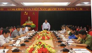 Đồng chí Trần Đăng Ninh - Phó Bí thư TT Tỉnh ủy, Trưởng Ban Chỉ đạo công tác tôn giáo tỉnh phát biểu kết luận buổi làm việc.